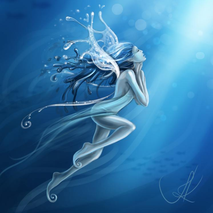 A Visit From the Water Sprite - Fairy Poet Wailmer Sprite